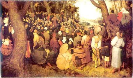 Brueghel: Prediking van Johannes de Doper