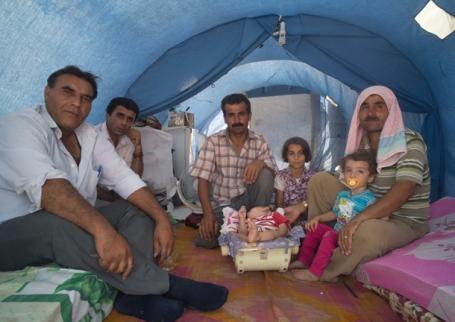 De tent van Mohamed en Ahmed