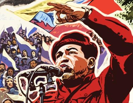 de persoonlijkheidscultus is een essentiele ingredient van het Chavismo