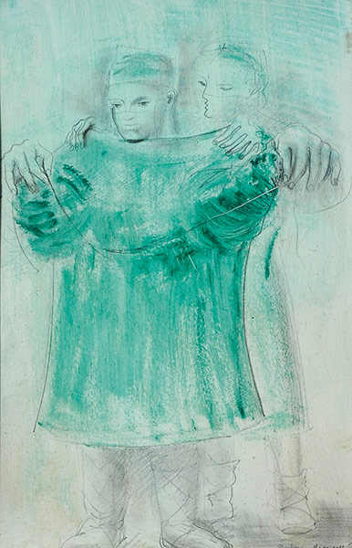 Study for Group (Surgeon Robing II) by Barbara Hepworth