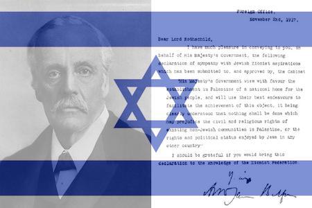 Lord Balfour en zijn 'verklaring' vormen de grondslag van de staat Israël