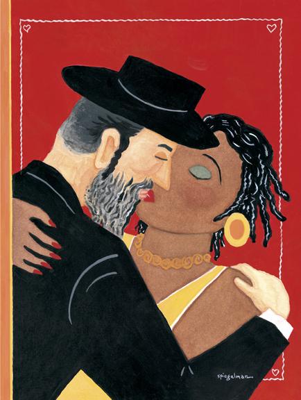 Met deze cover voor Valentijnsdag voor The New Yorker reageerde Spiegelman op de spanningen tussen joden en zwarten in Crown's Heights, Brooklyn.