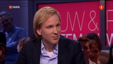 Bregman in de Vara-show Pauuw e Wiiteman. Pangloss heeft geen moeite om zijn blijde boodschap in de mainstream media te verkondigen.