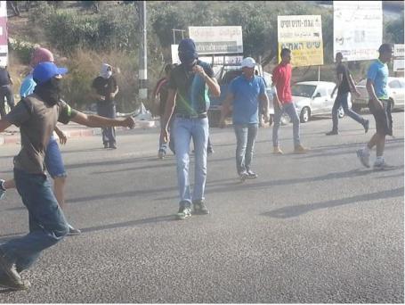 Protest Palestijnse jongeren in Galilea, Israel