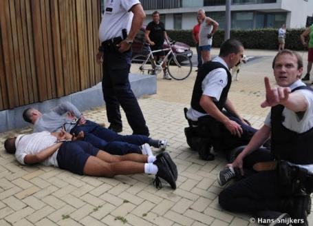 De Brugse politie in actie