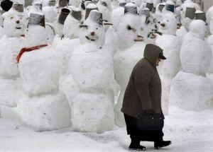 15 snowmen