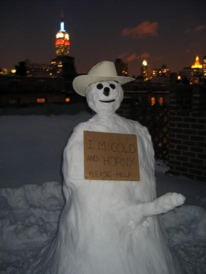 5 horny snowman