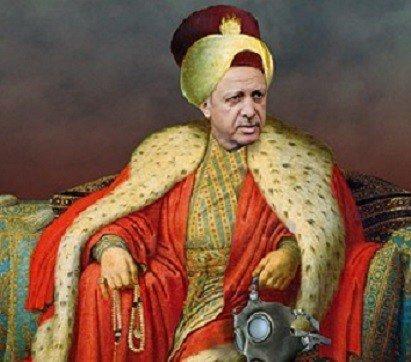Erdogan als Ottomaans heerser