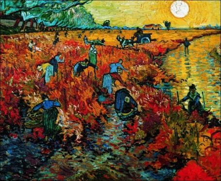 Schilderij Le Vigne Rouge