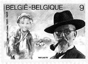 Claes en De Witte op postzegel