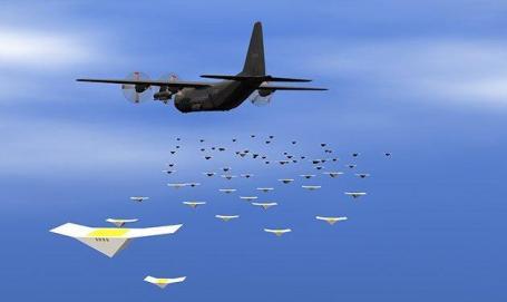 Massale verspreiding van drones