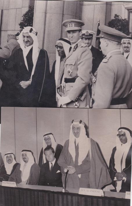 De koningen Boudewijn en Feisal