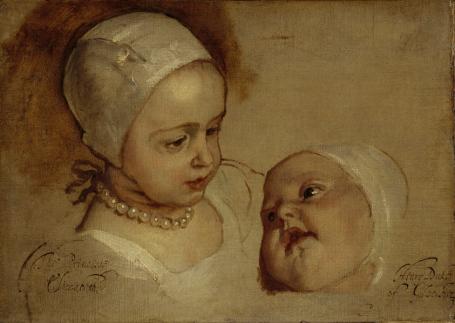 Van Dyck studie Edinburgh prinsesjes