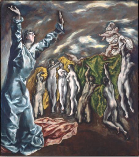 El Greco's laatste: Visioen van Sint Jan (ca. 1609–14)