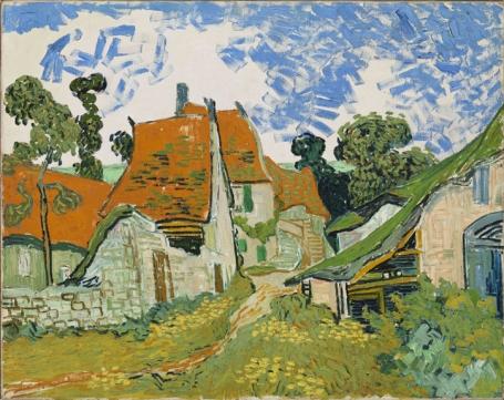 Vincent van Gogh.  Straat in Auvers-sur-Oise(1890)