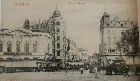 f1ffa0a597a De koloniale wijk aan het begin van de Naamse Poort, gezien vanaf de  Pippelingstraat (archief Stad Brussel)
